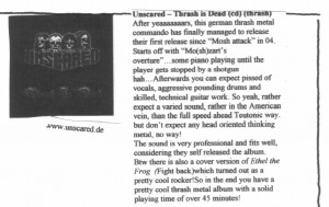 Review Thrash Is Dead in Thrash Attack Zine #10